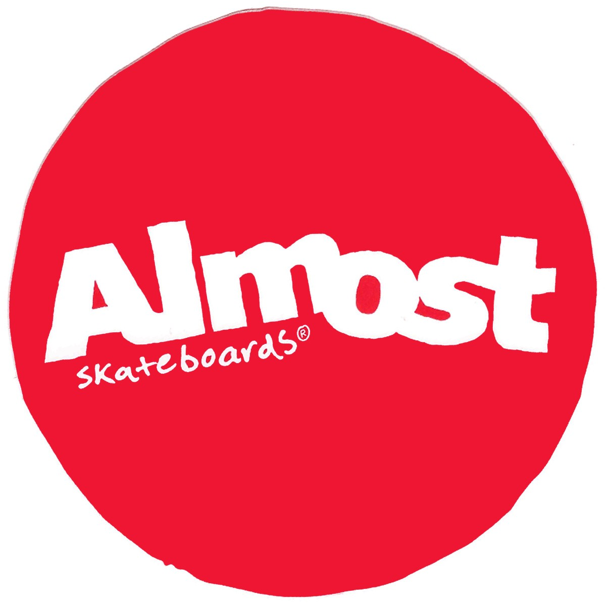 Almost Circle Logo Sticker Red