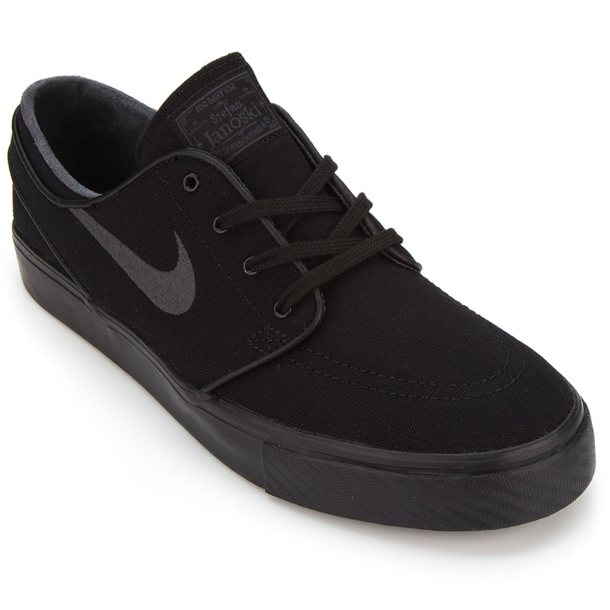 nike zoom stefan janoski canvas shoes black anthracite 6 0