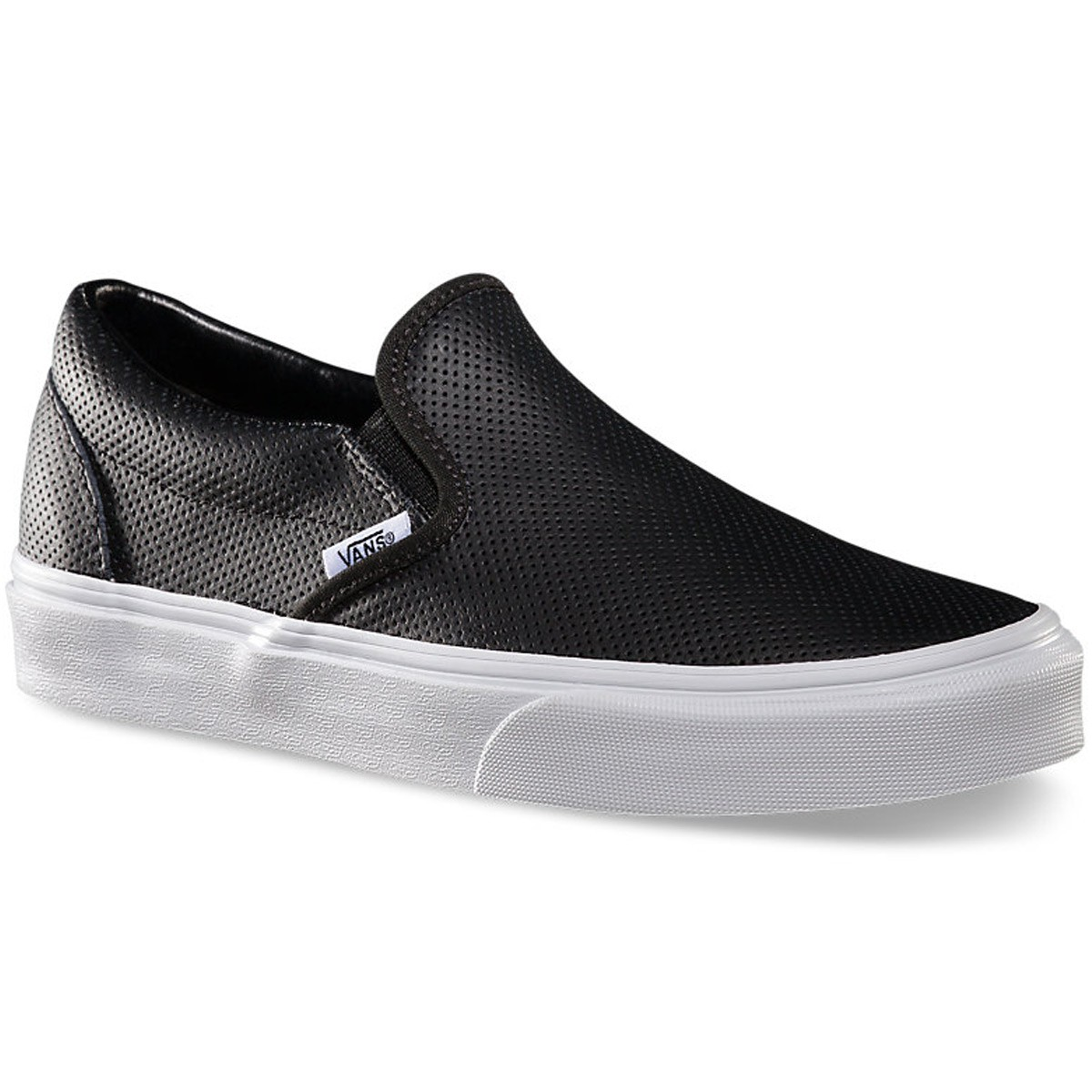 vans perf leather slip on shoes