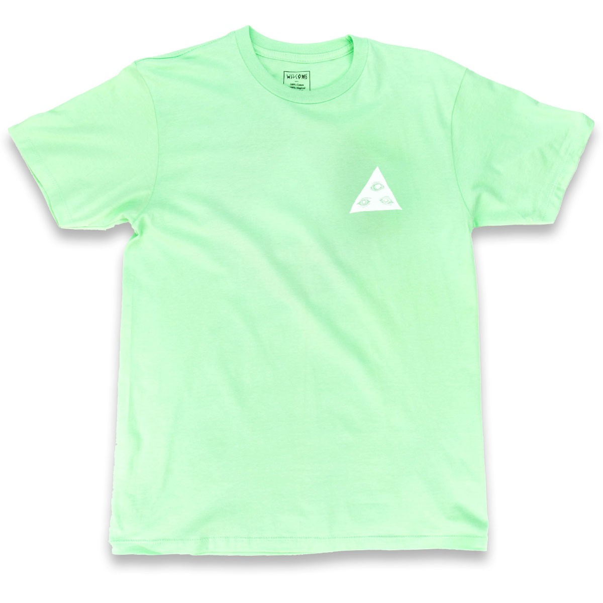 Welcome talisman tri color t shirt mint red white for Mint color t shirt