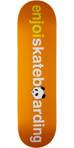 Enjoi No Brainer V2 HYB Skateboard Deck - Orange - 8.25