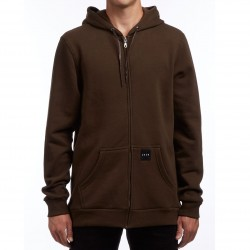 KR3W Labeled Zip Hoodie - Dark Drab