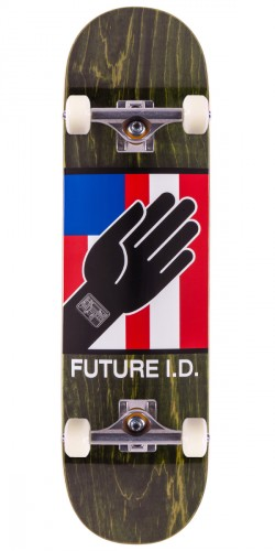 Alien Workshop By Any Means Future ID Skateboard Complete - Green Stain - 8.5""