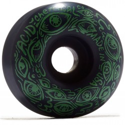 Acid Eyes Skateboard Wheels - Black - 52mm