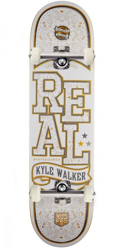 """Real Kyle Walker Poppin Off Lowpro 2 Skateboard Complete - 8.12"""" - Yellow Stain"""