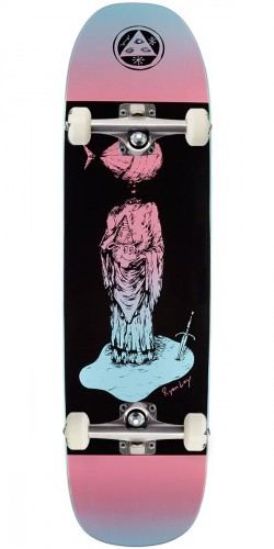 Welcome Light-Headed on Stonecipher Skateboard Complete - Pink/Blue - 8.6""
