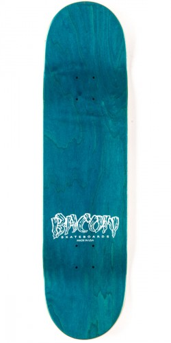 Bacon Woodgrain Logo Skateboard Deck - Red - 8.38""