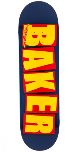 Baker Brand Logo Skateboard Deck - Navy/Yellow - 8.475""