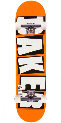 Baker Jackson Brand Name Skateboard Complete - Neon Orange - 8.0""
