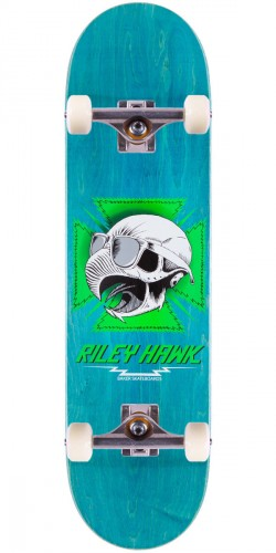 Baker Riley Hawk Tribute Skateboard Complete - Blue Stain - 8.25""