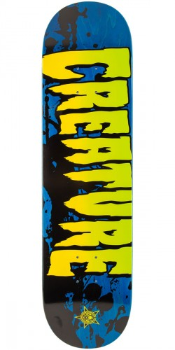 """Creature Stained Skateboard Deck - Blue - 8.0"""""""