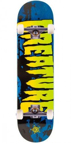 Creature Stained Skateboard Complete - Blue - 8.0""