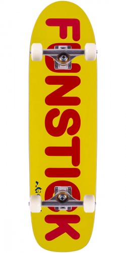 Enjoi Funstick Skateboard Complete - Yellow/Red - 8.625""