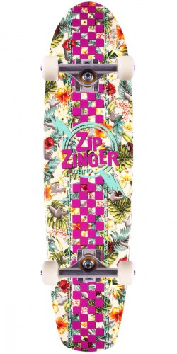 Krooked Zip Zinger Nano Birds Of Paradise Skateboard Complete - 7.125
