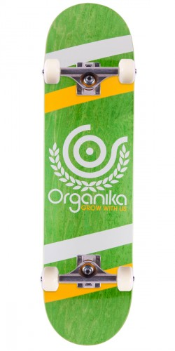 "Organika Price Point Skateboard Complete - 8.1"" - Green"
