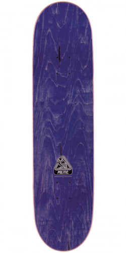 "Politic Wheel Head Skateboard Deck - 8.5"" - Purple Stain"
