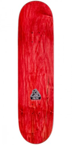 """Politic Wheel Head Skateboard Complete - 7.75"""" - Red Stain"""