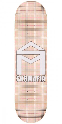 Sk8Mafia House Logo Skateboard Deck - Plaid Khaki - 8.25""