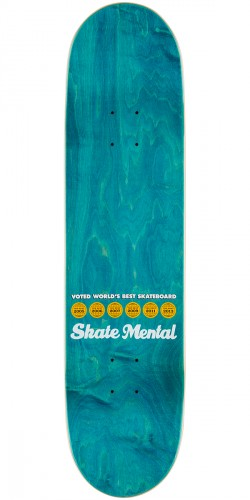 Skate Mental Colden Blocked Skateboard Deck - 8.06""