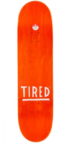 Tired Text Skateboard Complete - 8.625""