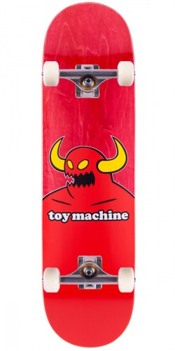 Toy Machine Monster Skateboard Complete - Red Stain - 7.75""