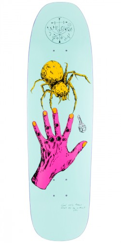 Welcome Gateway On Nimbus 5000 Skateboard Deck - Light Blue - 8.75""