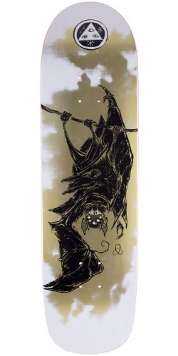 Welcome Infinitely Batty on Son of Planchette Skateboard Deck - White/Gold - 8.38""