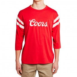 2077b9fe168 Brixton X Coors Signature 3 4 Sleeve T-Shirt - Red
