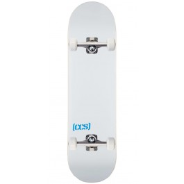 CCS Skateboard Complete Fully Assembled Color Logo and Natural Wood Includes Skateboard Tool and Stickers