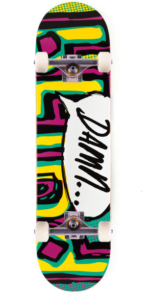 """Blind Damn OG Bubble SS Skateboard Complete - 8.00"""" - Turquoise/Pink/Yellow"""