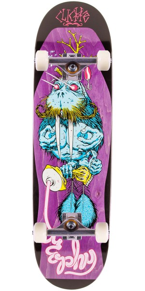 """Cliche Brophy Walrus by Cliver R7 Skateboard Complete - Purple Stain - 8.625"""""""