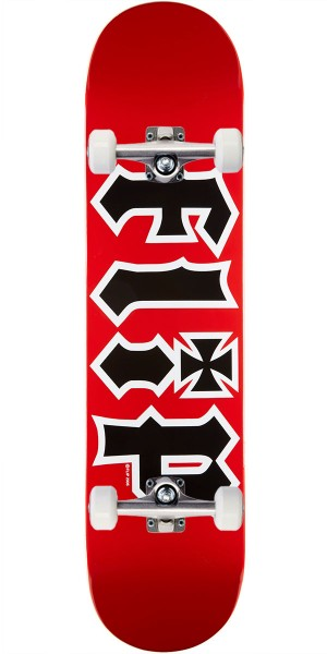 Flip Team HKD Skateboard Complete - Red - 7.5""