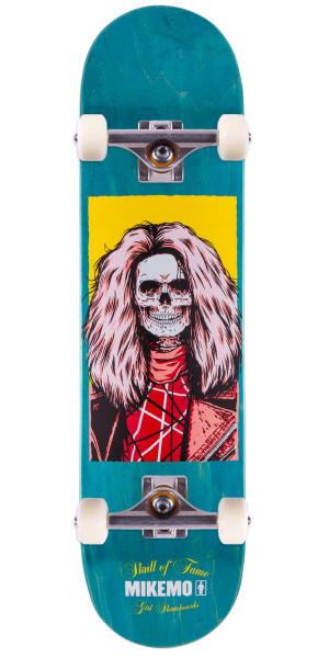 "Girl Mike Mo Skull of Fame Skateboard Complete - 8.0"" - Teal Stain"