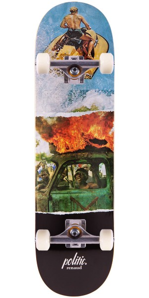 Politic Danny Renaud Double Vision Skateboard Complete - 8.50""