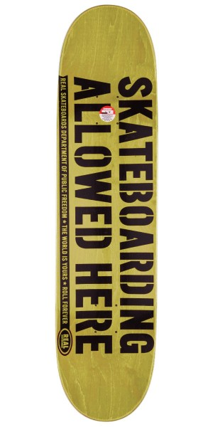 """Real Enforcement Prohibited Skateboard Deck - 8.06"""" - Blue Stain"""