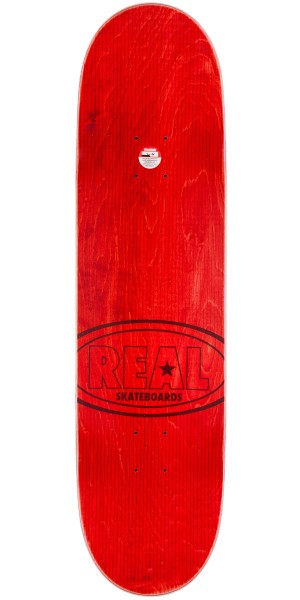 Real Hot Ovals Skateboard Complete - Red Stain - 8.5""