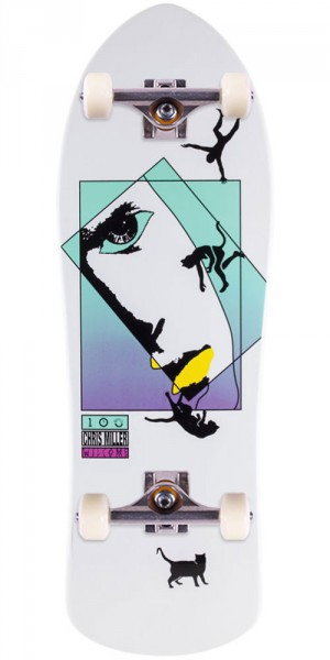 Welcome Miller Faces on Crossbone Skateboard Complete - White Dip - 10.0""