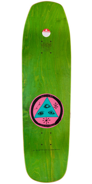 """Welcome Sloth On Banshee 90 Skateboard Deck - Green Stain - 9.0"""""""