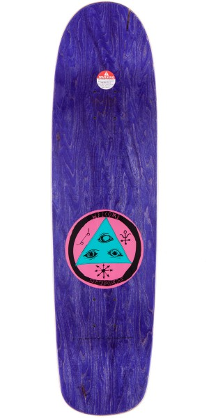 Welcome Sloth On Waxing Moon Skateboard Deck - Ice Blue - 8.50""
