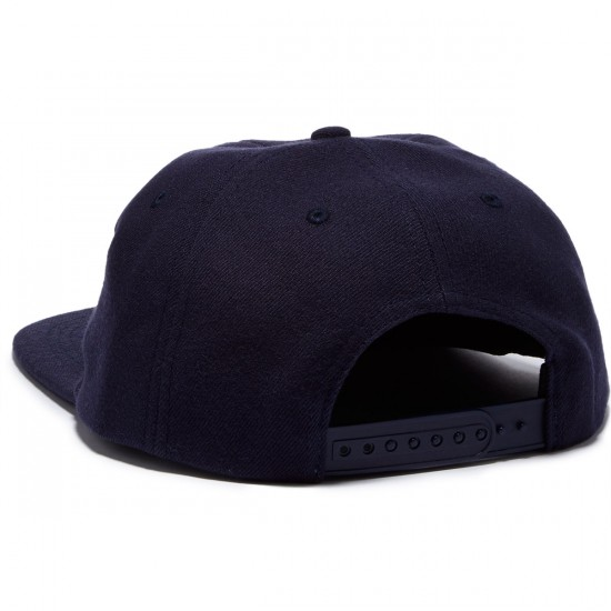 Thrasher Skategoat Wool Blend Snapback Hat - Navy