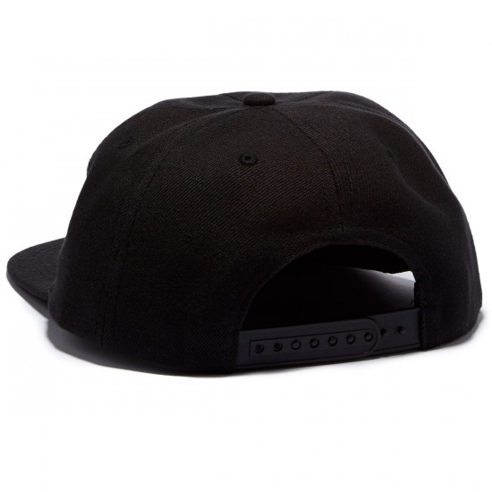Thrasher Skategoat Wool Blend Snapback Hat - Black