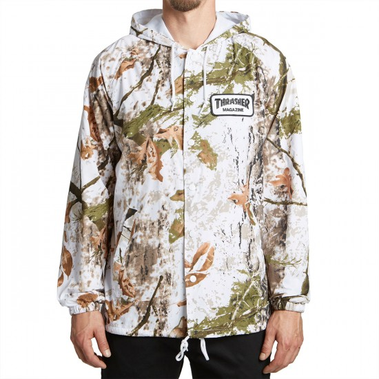 Thrasher Patch Coach Jacket - Snow Camo