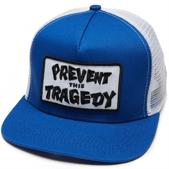 Thrasher Prevent This Tragedy Trucker Hat - Navy/White