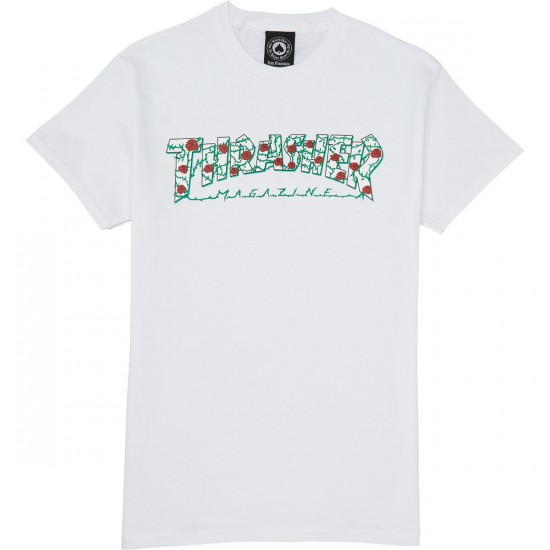 Thrasher Roses T-Shirt - White