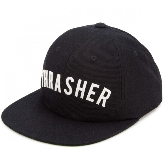 HUF X Thrasher Baseball 6 Panel Hat - Black