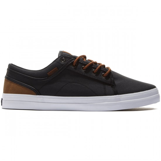 DVS Aversa Shoes - Black/Brown/Canvas - 8.0