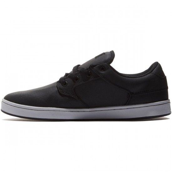 DVS Quentin Shoes - Black/Grey Canvas - 8.0