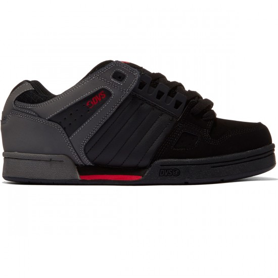 DVS Celsius Shoes - Black/Grey/Red - 8.0