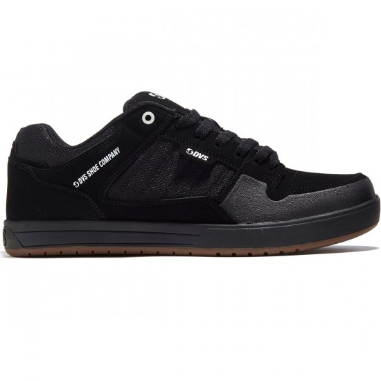 DVS Portal Shoes - Black Leather Nubuck - 8.0