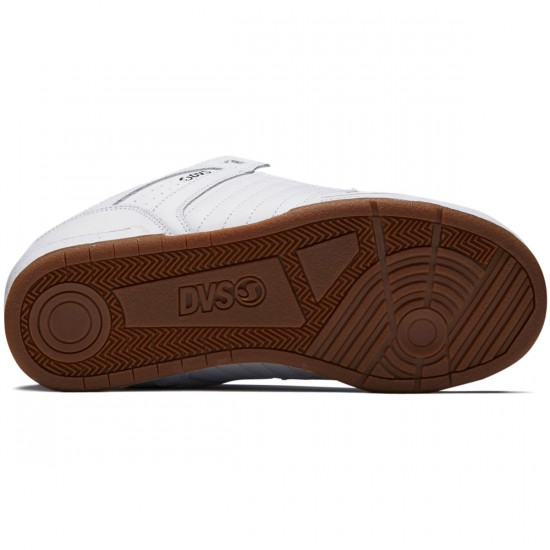 DVS Celsius Shoes - White/White Leather - 8.0
